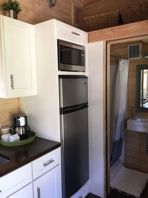 tiny house fridge tiny house fridge how to pack a whole lot of living into 221 square feet treehugger