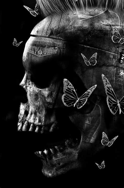 imagenes de calaveras aztecas fantasmagorik 174 skull denim by obery nicolas on behance