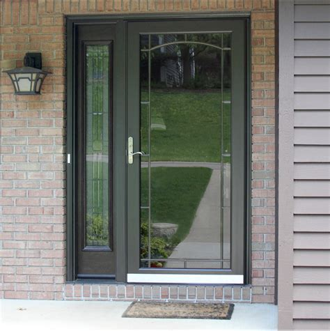 exterior door with screen custom aluminum doors screen doors provia