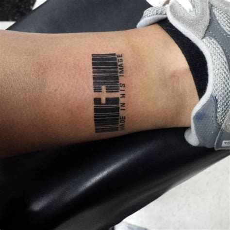 barcode tattoo on ankle creativefan