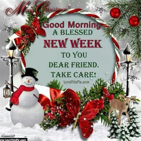 good morning  blessed  week christmas quote pictures   images  facebook