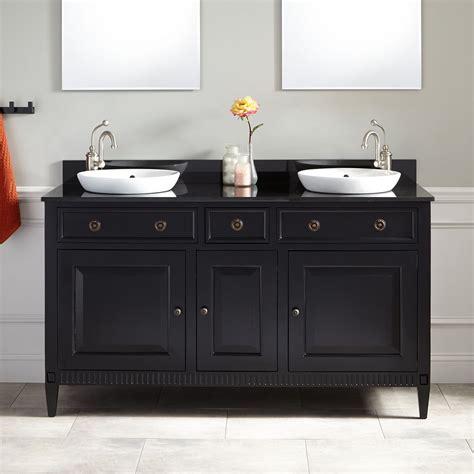 60 quot hawkins mahogany vanity for semi recessed sink