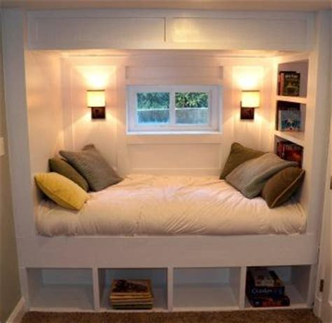 bed with mini closet underneath cozy day bed