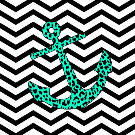 chevron wallpaper pinterest chevron anchors mint leopard chevron anchor art print by