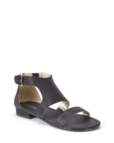 wide width shoes wide width faux leather flat sandals penningtons