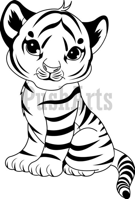 White Tiger Cub Coloring Page Coloring Pages White Tiger Coloring Pages