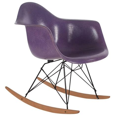 Charles Eames Chair For Sale Design Ideas Charles Eames For Herman Miller Purple Fiberglass Lounge Rocking Chair Rar For Sale At 1stdibs