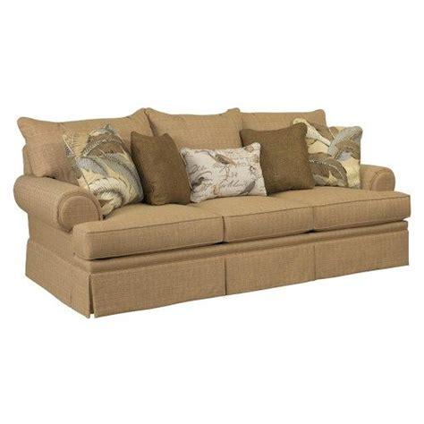 traditional skirted sofas broyhill furniture helena traditional skirted sofa with