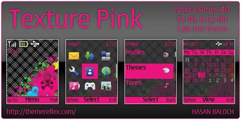 nokia c2 00 themes one piece texture pink theme for nokia c1 01 c2 00 themereflex