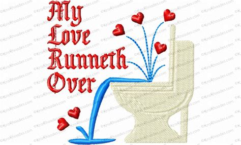 design love fest toilet paper my love runneth over toilet paper embroidery design