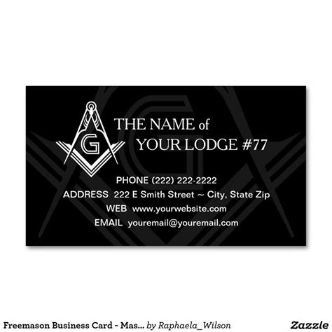 Free Masonic Business Card Templates by Masonic Business Cards 145 Best Masonic Business Cards