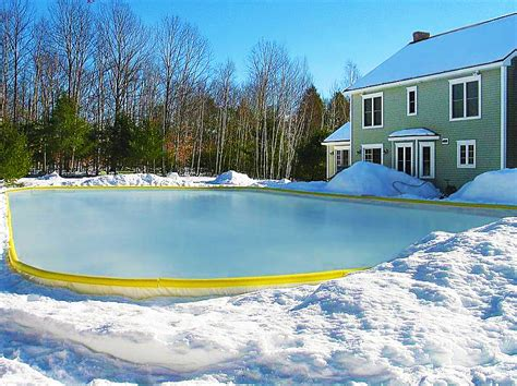 things to build in your backyard things to build in your backyard nicerink backyard ice rink kit noveltystreet