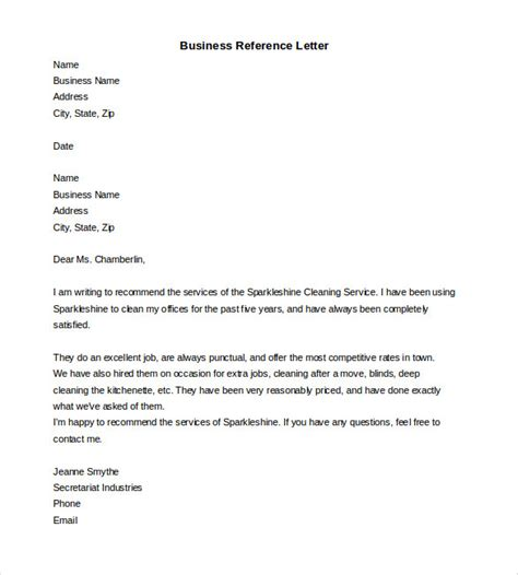 Reference Letter Format For Business Reference Letter Template 27 Free Word Excel Pdf Documents Free Premium Templates