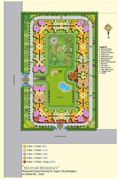 layout plan of noida extension miglani mayfair residency noida extension 2 3 bhk project