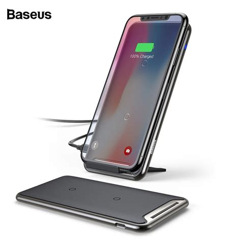 baseus qi fast wireless charging dock station 10w samsung s10 s9 iphone xs max shopee malaysia