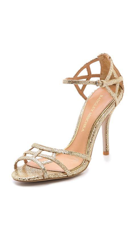 Boots Shoes L Gold 21 25 lyst badgley mischka kerrington metallic sandals white silver in metallic