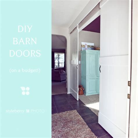 Ceiling Mount Barn Door Diy Barn Doors On A Budget Hung With Box Rail Mounted To Ceiling Trolley Hangers Tiny Home