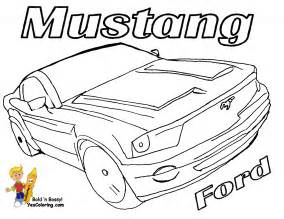 mustang cobra colouring pages