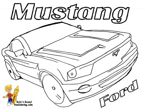 coloriage de ford mustang