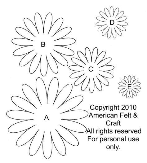 daisy paper flower pattern moldes de petalos de daisies buscar con google flores