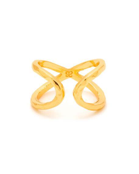 Gorjana Gold Ring Size 7 gorjana elea crisscross ring gold size 7