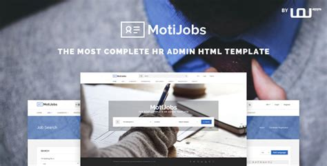 Motijobs Human Resources Admin Template By Uouapps Themeforest Human Resources Website Templates