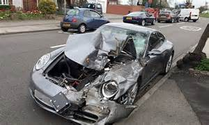 Porsche Crash Driver Distraught After His 163 80 000 Porsche Is Wrecked In