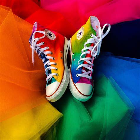 Rainbow High Top Converse