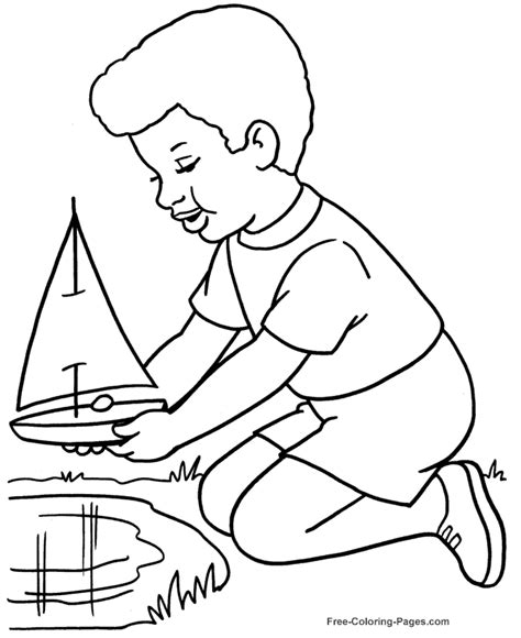 Boats Coloring Pages To Print Color Makwin Pages Free