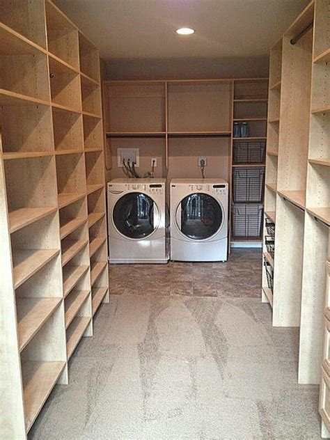 Master Bedroom Closet With Laundry Master Closet With Laundry Room Transitional Laundry