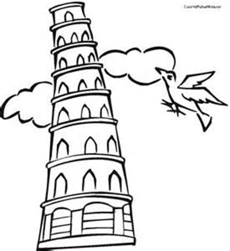 Leaning Tower Of Pisa Coloring Page Google Twit Leaning Tower Of Pisa Coloring Page