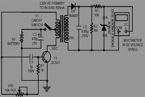 zener diode test multimeter electronic rangkaian penguji tester dioda zener