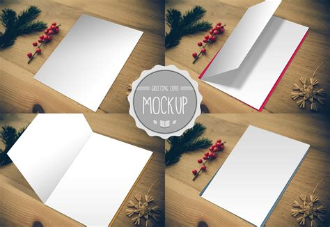 Greeting Card Mockup Graphic Photoshop Psd Template Cursive Q Card Psd Template Free
