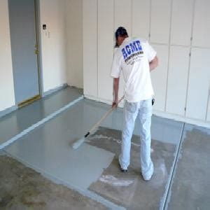 Garage Floor Paint Touch Up How To Paint A Concrete Garage Floor
