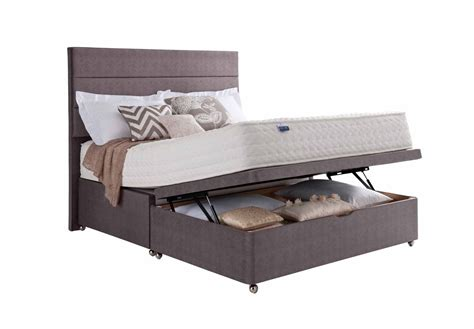 king size ottoman bed with mattress 5ft 150cm half ottoman king size divan set silentnight
