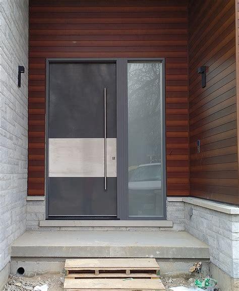 modern exterior 10 door with stainless steel bar
