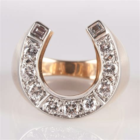 s 14k yellow white gold two tone horseshoe