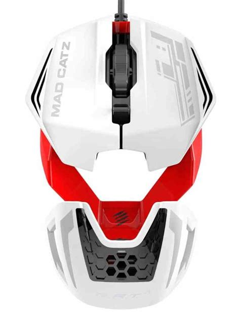 Mad Catz Rat1 White Custome Modular Design Gaming Mouse mad catz announces looking r a t 1 mouse eteknix