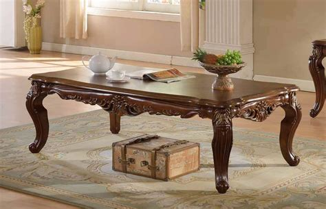 Ornate Carved Coffee Table by Modena Cherry Coffee Table With Ornate Carved Design