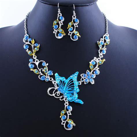 fashion neclace butterfly leaf wedding rhinestone