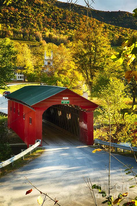 Attractive Bridges Community Church #3: Vermont-covered-bridge-fall-scenic-george-oze.jpg