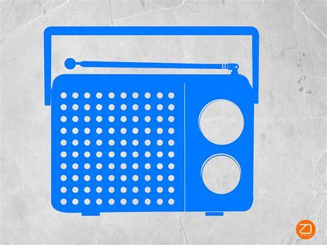 transistor blue blue transistor radio digital by naxart studio