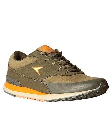 power brown colour sport shoes price in india buy power