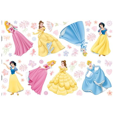 disney princess wall stickers large disney princess 52 deco wall stickers new official