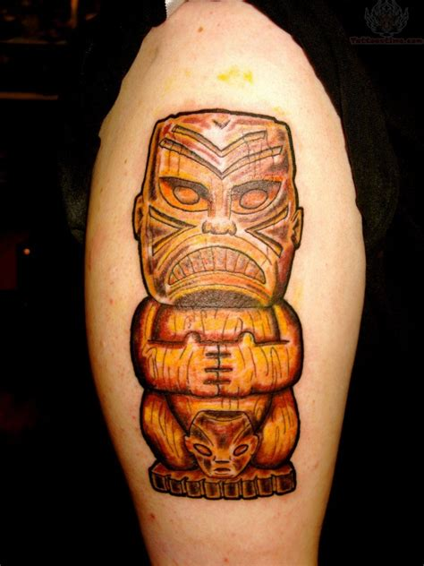tiki man tattoo designs tiki half sleeve