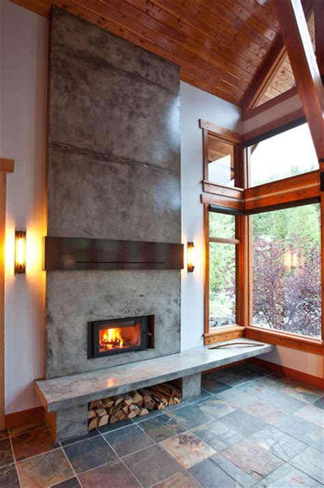 Rustic Modern Fireplace by Mountain Modern Home Fireplace Renovation Rustic