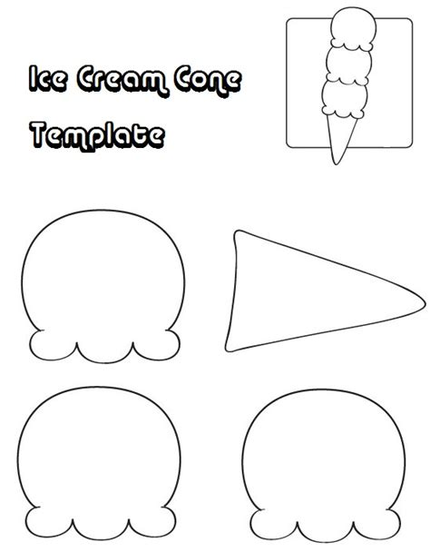 Cone Card Template by Cram Cone Template Coloring Pages Templates For