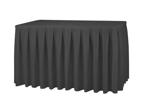 black polyester table skirt black table skirt 21ft 252 quot polyester event
