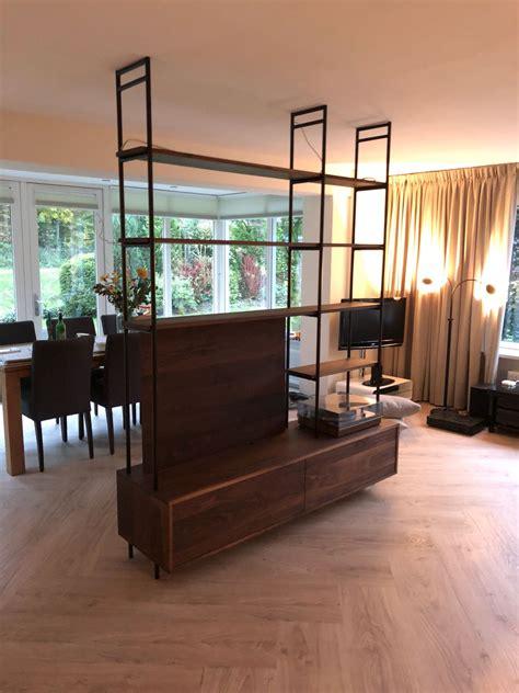 notenhout tv meubel notenhouten tv meubel roomdivider wortelwoods