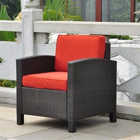 barcelona outdoor patio chair in black antique and spice